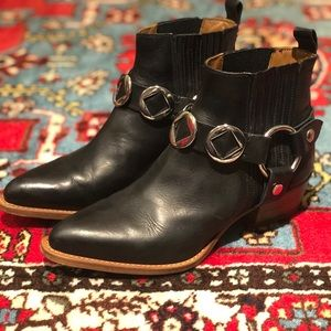 Short harness Frye Bootie with Western flair